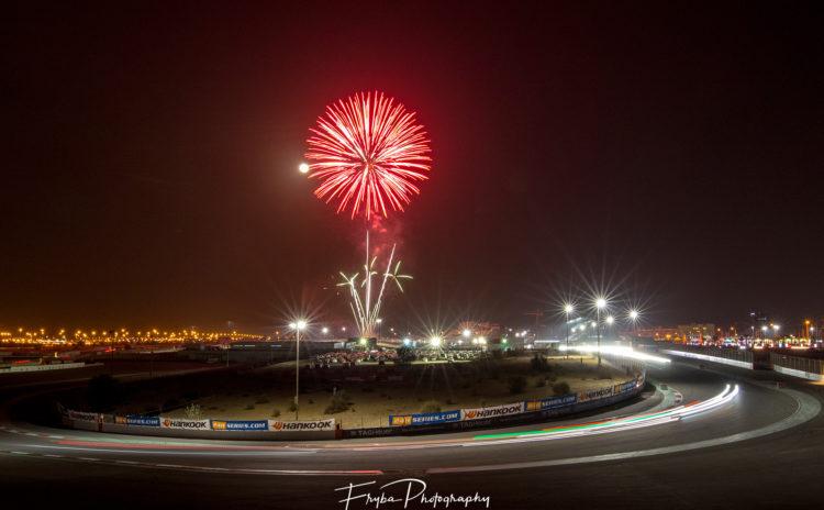 24h Dubai 2017 fireworks
