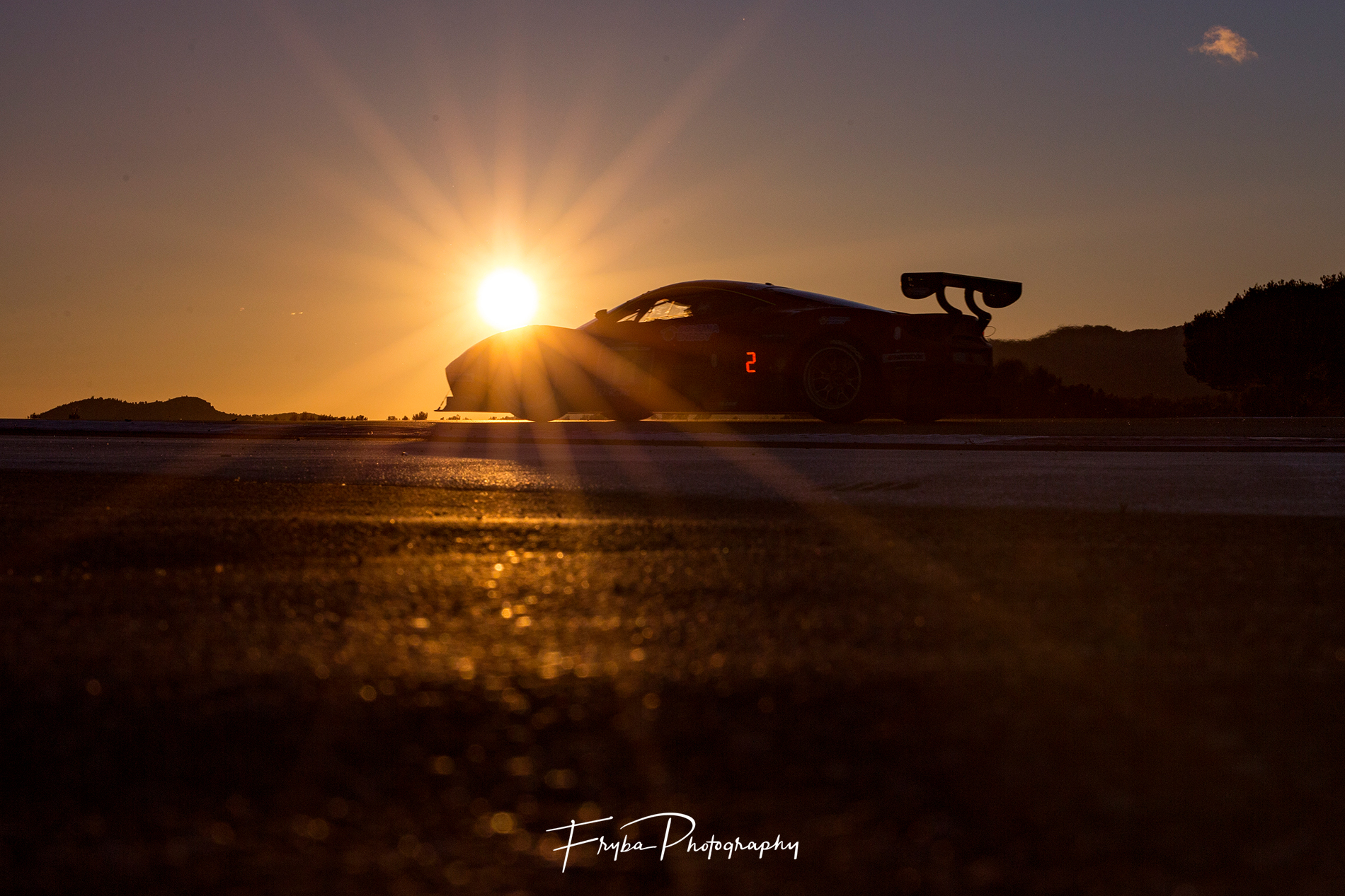 24h Paul Ricard 2017 sunset Ferrari