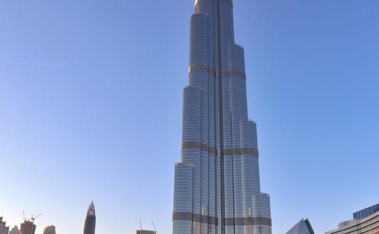 Burj Khalifa Dubai with ship