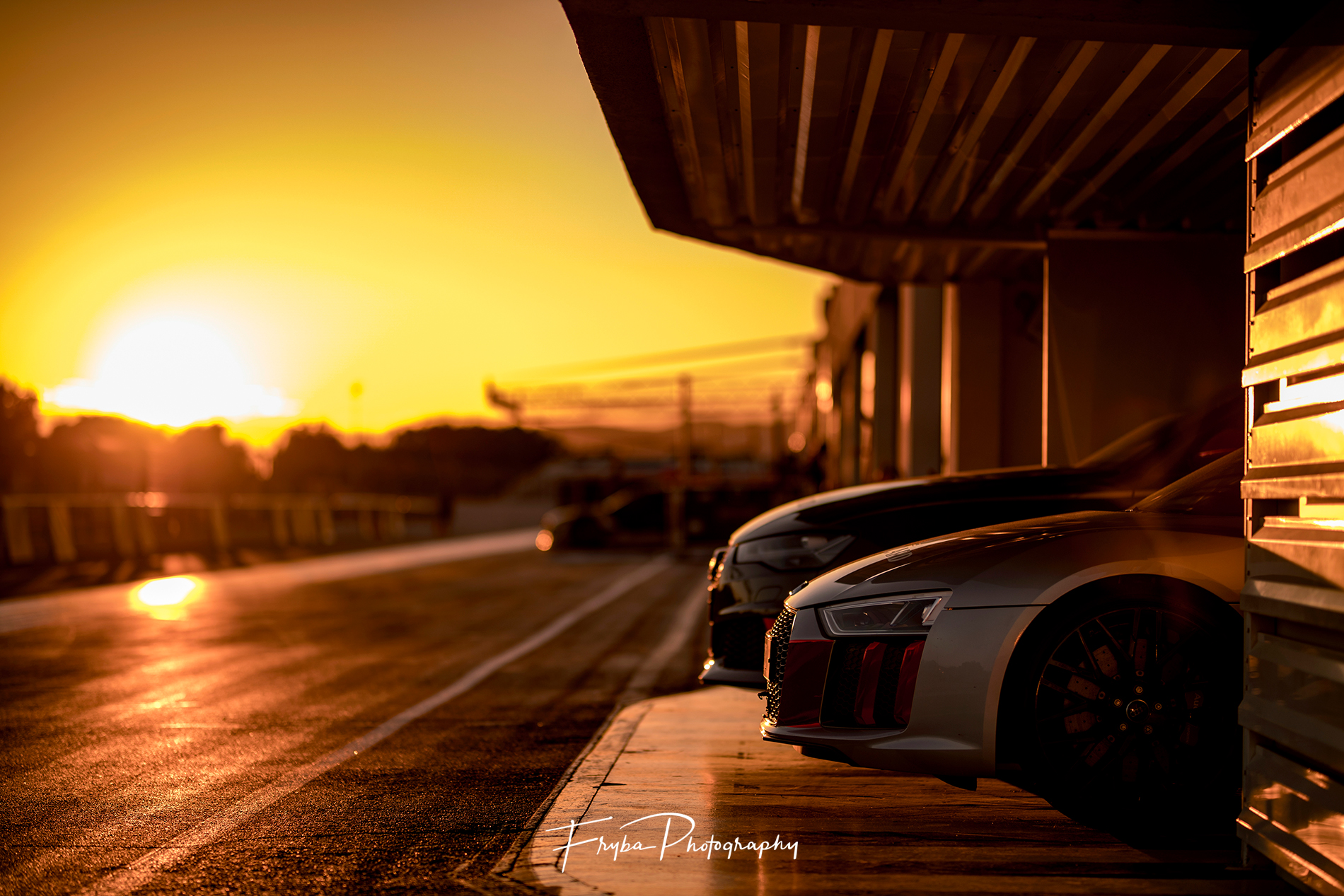 Paul Ricard sunset Audi R8